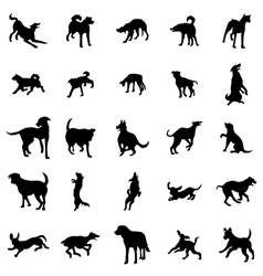 Dog silhouettes set vector image vector image