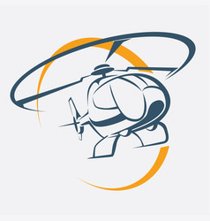 helicopter icon stylized symbol vector image vector image