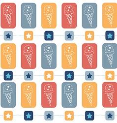 Ice-cream seamless pattern vector image