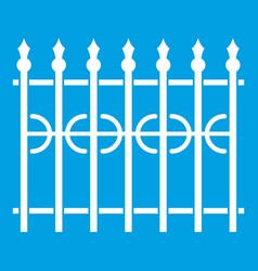Park fence icon white vector