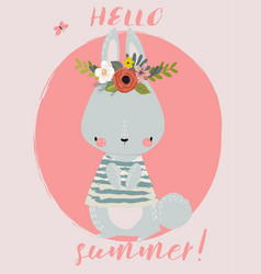 summer cute hare vector image