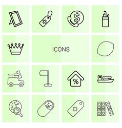 14 icons icons vector image