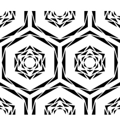 Abstract Black Rose Tile Pattern vector