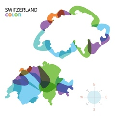 Abstract color map of Switzerland vector image