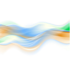 abstract colorful smooth blurred waves background vector image