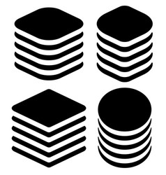 Abstract tower stack shapes hdd server symbols vector