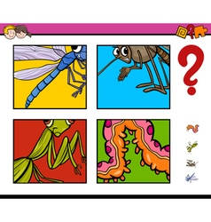 activity game with insects vector image