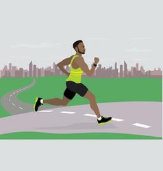 african american guy running vector image