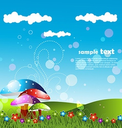 Artistic lanscape design vector
