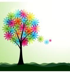Artistic spring or summer landscape vector image