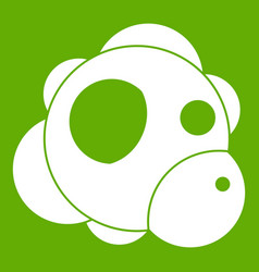 atom icon green vector image