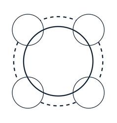 atom molecule chemistry science structure vector image
