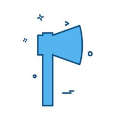 axe tools icon design vector image