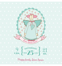 Baby Shower and Arrival Cards - Doll theme vector