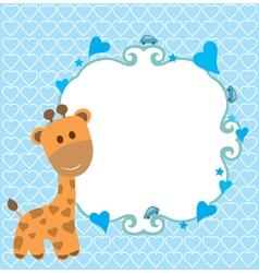 Baby shower giraffe vector