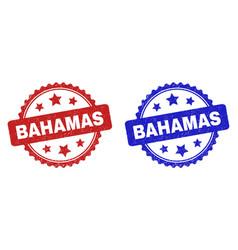 Bahamas rosette stamp seals using grunge surface vector