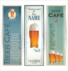 Beer cafe design template vector image