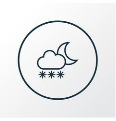 Blizzard icon line symbol premium quality vector