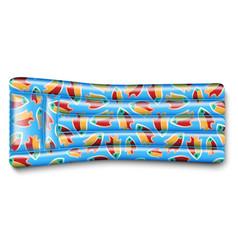 Blue air mattress vector