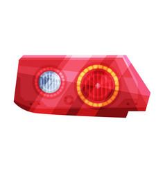 Bright auto car headlights rare glowing headlamps vector