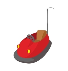 Bumper cars in amusement park cartoon icon vector image