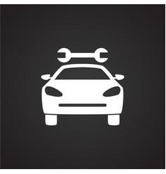 Car service on black background vector