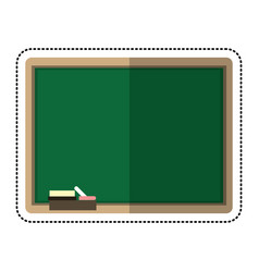 Cartoon chalkboard eraser white chalk vector