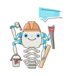 cartoon cute chat bot builder vector image