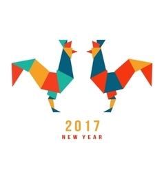 chinese new year rooster 2017 vector image