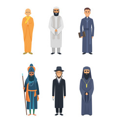 Christian jewish and other different religion vector