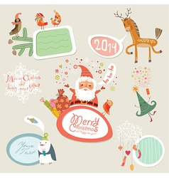 Christmas set frames part 1 vector image