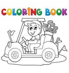 Coloring book outdoor sport theme 2 vector