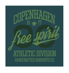Copenhagen sport t-shirt design vector