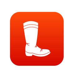 cowboy boot icon digital red vector image