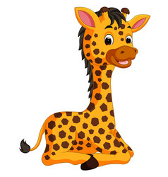 cute giraffe cartoon vector image