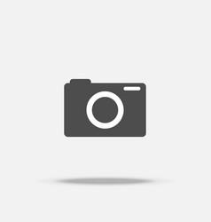 digital camera flat design icon vector image