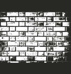 distressed overlay texture of old brick wall vector image