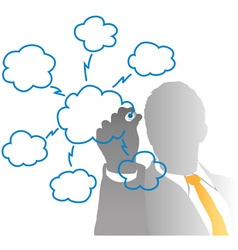 drawing cloud vector image
