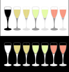 drink cups vector image