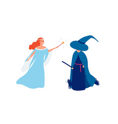 Fairy and sorceress flat vector