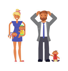 family with dad vector image
