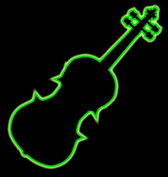 fiddle neon outline vector image