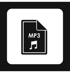 File MP3 icon simple style vector image