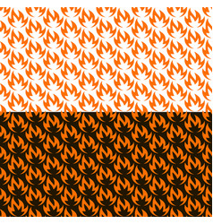 fire seamless pattern on black and white vector image