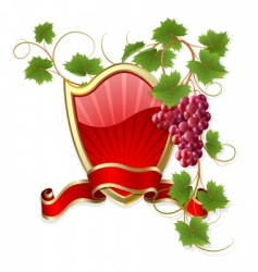 Frame with vine vector