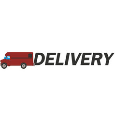 free delivery icon eps10 vector image