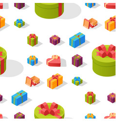 gift boxes pack composition event greeting vector image