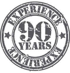 Grunge 90 years of experience rubber stamp vector