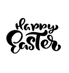 hand drawn happy easter modern brush calligraphy vector image