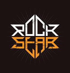 Hard Rock brutal badge - original lettering with vector image vector image